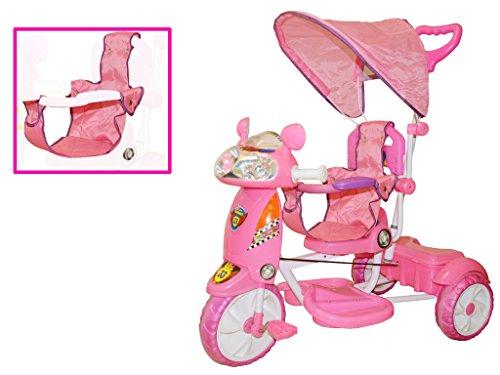 Triciclo per bambini motosprint girl con cappottina...