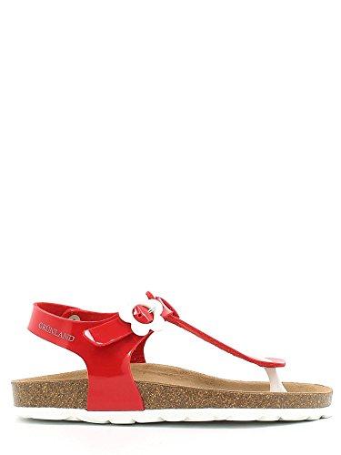 Grunland junior SB0568 Sandalo infradito Bambino Rosso 32