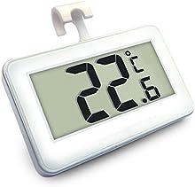 Termómetro del refrigerador, AIGUMI termómetro impermeable del congelador del refrigerador de Digitaces con la exhibición l ...