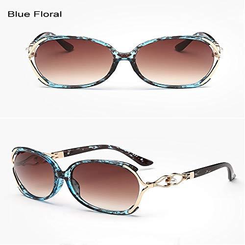 ZHOUYF Sonnenbrille Fahrerbrille Vintage Kristall Sonnenbrille Frauen Markendesigner Weibliche Durchbohrte Sonnenbrille Mit Farbverlauf Uv400 Oculos Lunette Femme, E