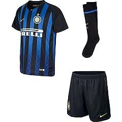 Idea Regalo - Nike Inter Home Kit, Divisa da Calcio Bambini e Ragazzi, Nero/Truly Gold, M