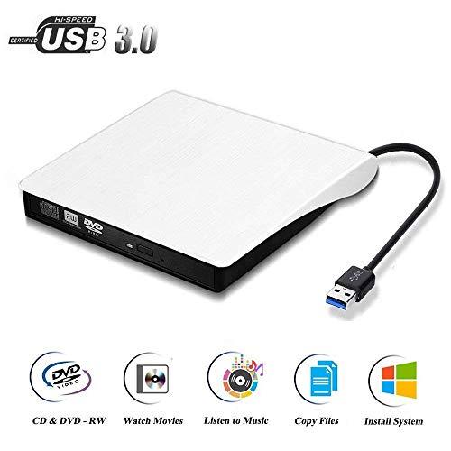 Estmoon Externes DVD Laufwerk USB 3.0 Laufwerk DVD Brenner CD Brenner für MacBook, MacBook Pro, MacBook Air, iMac OS, Windows 7/8/10/Vista/XP