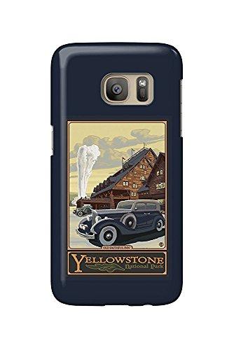 Old Faithful Inn, Yellowstone Park (Yellowstone National Park, Wyoming - Old Faithful Inn (Galaxy S7 Cell Phone Case, Slim Barely There))