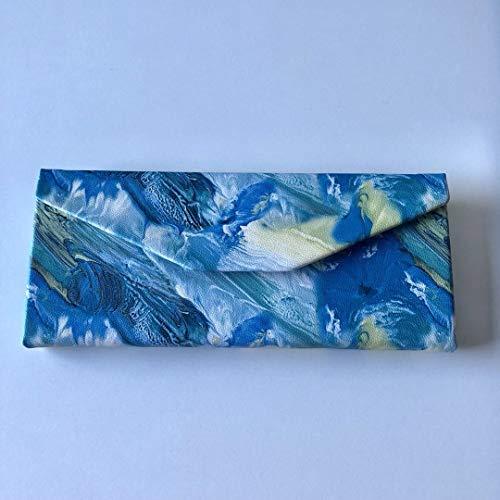 Peino Brillenetui, dreieckig, faltbar, Hartschalen-Etui 16.0x6.5x6.5cm blau