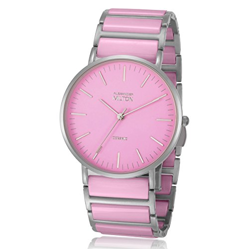ALEXANDER MILTON - montre femme - CERES, rose/argente