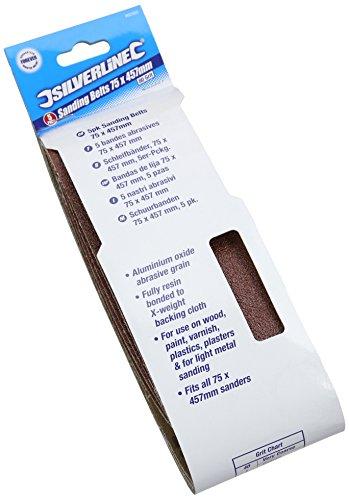 silverline-862553-sanding-belts-75-x-457-mm-80-grit-pack-of-5