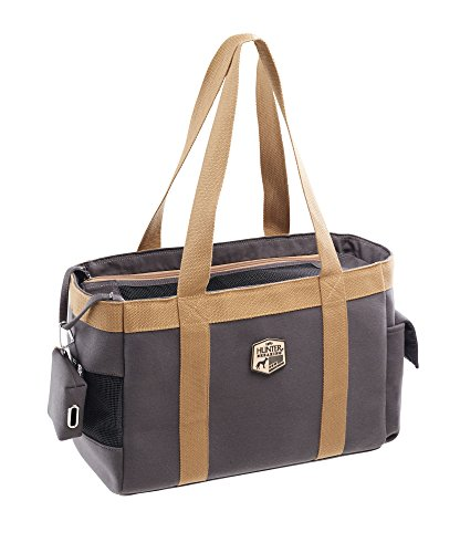 HUNTER Perth Tragetasche, Transporttasche für Hunde und Katzen, 38 x 19 x 26 cm, grau -