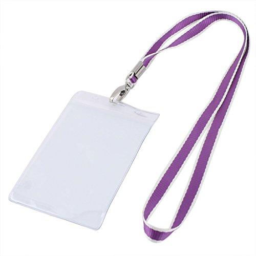 Nombre del titular de plástico vertical de la cuerda de seguridad de la empresa Diseño de Tarjetas púrpura