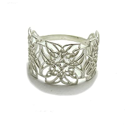 Bague celtique en argent sterling 925 en filigrane massif 925 R001777 Empress