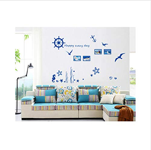 saqwq Marine Corals Seaweed Frame Collocation Can Remove The Wall Household Adornment Wall Stickers 135 * 100Cm