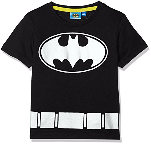 DC Comic Batman Symbol, T-Shirt Garçon, Noir, 6 Ans