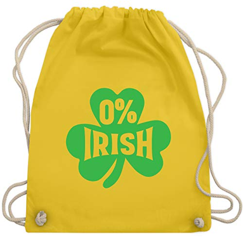 St. Patricks Day - 0% Irish - Unisize - Gelb - WM110 - Turnbeutel & Gym Bag (Irish Girl Kostüm)