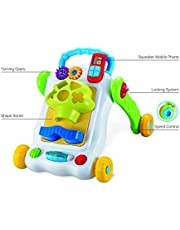BAYBEE 2 in 1 SittoStand Learning Push and Pull Walker for
