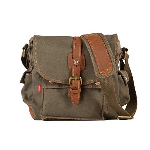 QHGstore Kuriertaschen Reisetasche Umhängetasche Tasche Reisetaschen Armeegrün