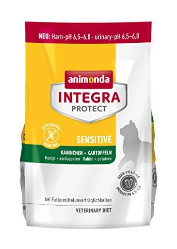 Animonda Integra Protect,Linea Sensitive, Cibo Secco per Gatti con Coniglio e Patate, Adatto per Animali con allergie Alimentari (Etichetta in Lingua Italiana Non Garantita)