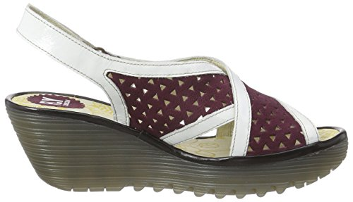Fly London - Yopp647fly, Sandali Donna Multicolore (Mehrfarbig (MAGENTA/OFFWHITE/BLACK  007))