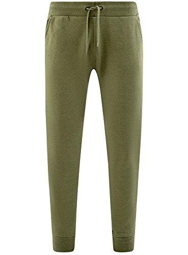 oodji Ultra Herren Jersey-Hose mit Bindebändern Grün (6600M)