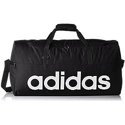 adidas AJ9923 - Bolso deportivo rendimiento lineal, color Negro / Blanco, talla M