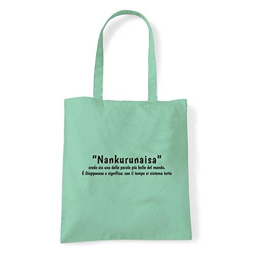 Art T-shirt, Borsa Shoulder Nankurunaisa, Shopper, Mare Menta