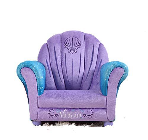 Sumferkyh Verstellbarer Bodenstuhl Kindersofa Lila Kind gepolstert Kleinkind Sofa Zur Verwendung als Gaming Chair,