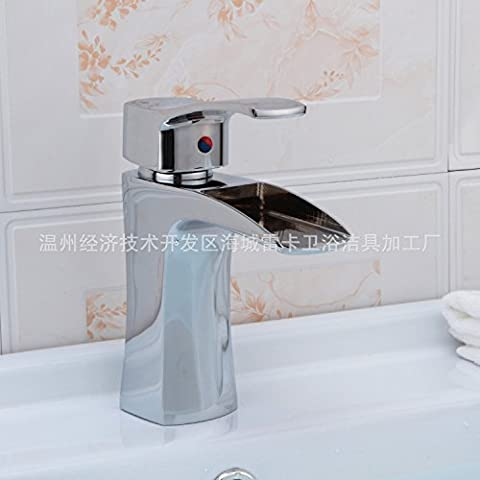 Furesnts Modern home kitchen and bathroom faucet Click the electroplating Copper Braid Width nozzle falls bash mixer,(Standard G 1/2 universal hose ports)