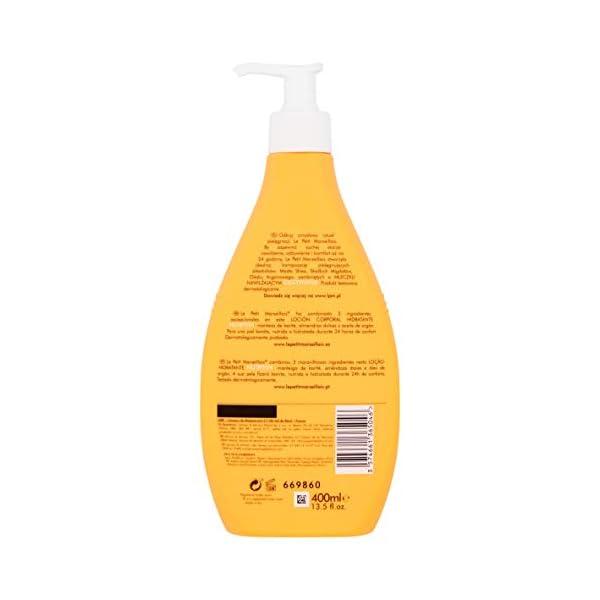 Le Petit Marsellais – Loción Corporal Hidratante Nutritiva Manteca de Karité, Almendras Dulces y Aceite de Argán, 400 ml