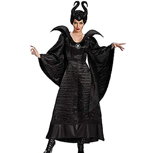 Ob Witch Märchen Cosplay Kleid Cosplay Kostüme Hut Party Kostüme Erwachsene Frauen Weihnachten Halloween Karneval Festival/Holiday Polyster Black Weibliche Karneval Kostüme Solide Farbe, (Holiday Charakter Kostüm)