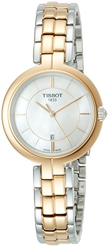 Tissot Damen-Uhren Analog Quarz One Size Silber/rosé/Bicolor 32001733