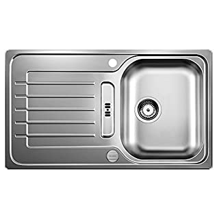 Blanco Zia 45 S, Küchenspüle, reversibel, Edelstahl Bürstfinish / inklusive 3 1/2