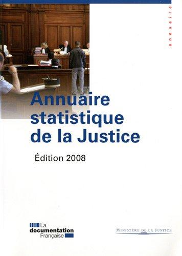 Annuaire statistique de la Justice 2008