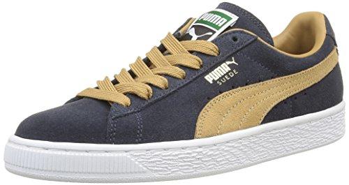 Puma Suede Classic+ , Sneakers Basses Mixte Adulte Bleu (New Navy/Apple Cinnamon)