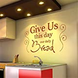 wandaufkleber cars Gib uns heute unser tägliches Brot für die Küche