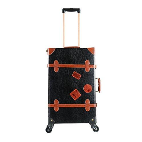 Vintage Koffer 50,8cm–66cm PU Leder Trolley Gepäck-Sets mit 30,5cm, doppelseitig Tasche (Vintage-gepäck-set Leder)
