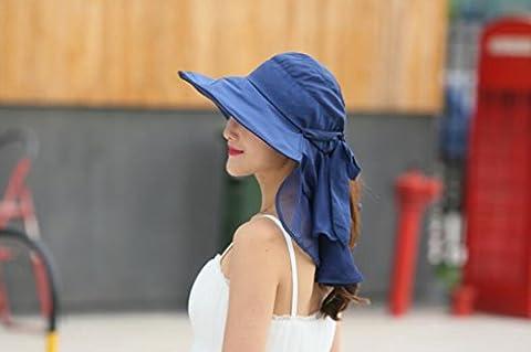 LQABW Sommer-neue Dame Folding Sonnenhut Im Freien Kreative Sonnenschutz-Strand-Hut Fischer-Hut,Type2