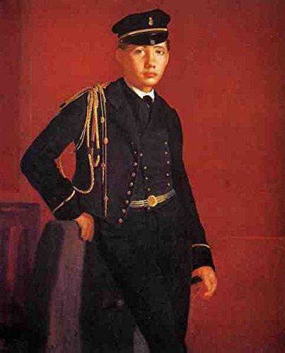 Degas Edgar Achille De Gas In The Uniform Of A Cadet A3 Box Canvas Print
