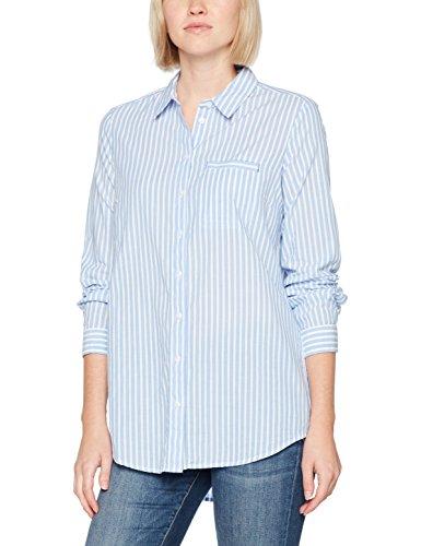 s.Oliver 14709118792, Blusa para Mujer, Blau-Weiß (01H9), 48