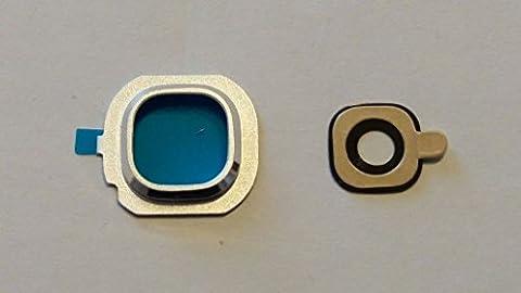 Notebook Linse Glas Camera X Kamera Außen + Rahmen Cover für Samsung Galaxy J52016sm-j510F J510weiß (Rahmen