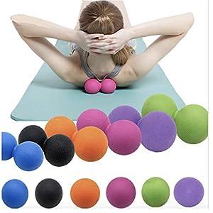 ivyacen Massagebälle Soft Physical Yoga und Pilates-Therapie Gummikugeln für sofortige Muskel-Schmerzlinderung Fußmassage Rückenmassage