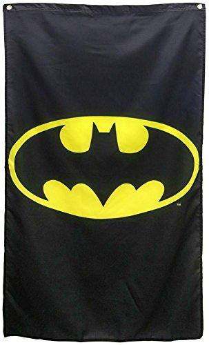 DC Comics Batman Logo Black Banner - Dc Poster Flag