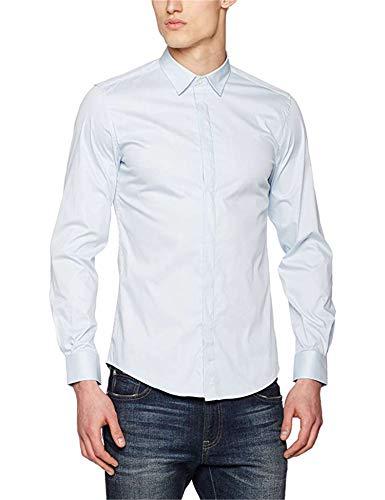Antony morato mmsl00293-fa450001-camicia camicia uomo 7027-azzurro-cielo 56