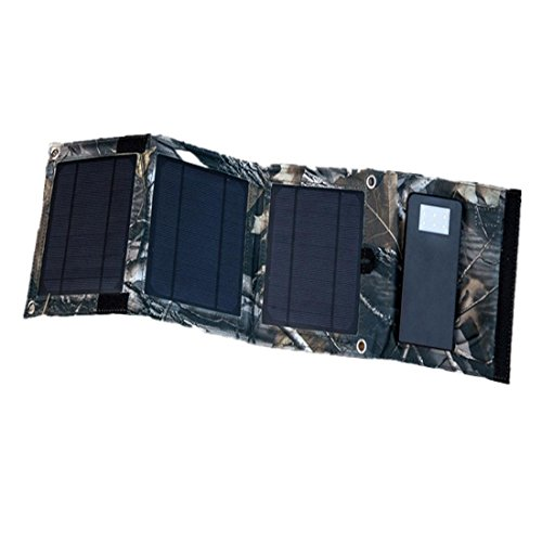 Joyeer Dual USB Solar Panel 3 Faltbeutel 8W Outdoor Energiespeicher Akku 5000MA Solar Ladegerät Telefon Notfall Mobile Power Ladegerät mit LED Licht