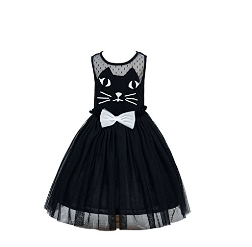 d Kostüm für Mädchen Tierkostüm für Kinder zu Karneval oder Fasching Cosplay (Schwarze Katze Tutu Kostüm)