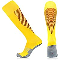 Huyizhi Calcetines de Hombre Calcetines Transpirables Suaves del Deporte del fútbol de los Deportes del fútbol