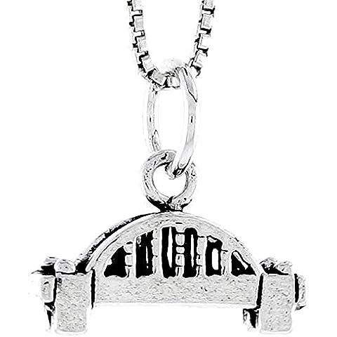 In argento Sterling con ciondolo a forma di ponte