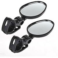 Eximtrade Universale Bicicletta Specchietto Retrovisore Regolabile 360° Rotazione (2 pezzi