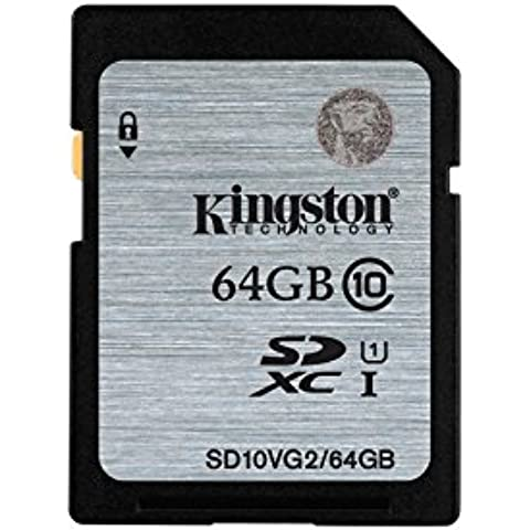 Kingston SD10VG2/64GB - Tarjeta SD UHS Class 1/Class 10 SDXC Flash