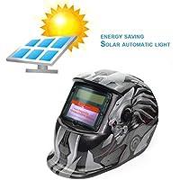 Alimentadas por energía solar oscurecimiento automático de soldadura TIG MIG MMA Soldadura Eléctrica máscara ...