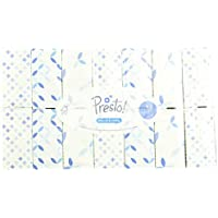 Marque Amazon -  Presto! Mouchoirs 3 épaisseurs - Lot de 12 boîtes (12 x 90 mouchoirs)