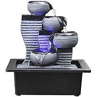 Fuentes de interior mesa de escritorio que fluye de la fuente fuente del ornamento del paisaje fuente de agua de mesa Inicio Fuentes de resina decoración de la oficina de escritorio (Color: B) QIANGQI