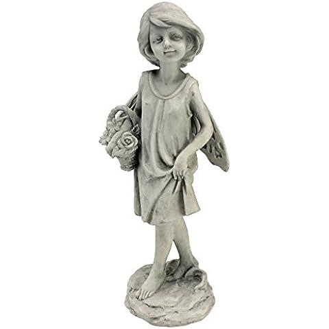 Toscano Rose Garden Fairy con il cestino statua - Roses Statua
